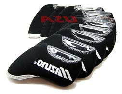 Mizuno Black Iron HeadCovers 10 pcs Golf Set Head Cover Club