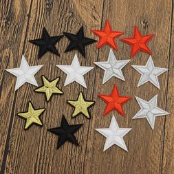 10 Pcs Star Embroidered Garment Applique Sew Iron on Patches