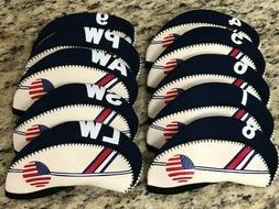 USA 10pc Set 4-LW Neoprene Golf Iron Head Covers for Callawa
