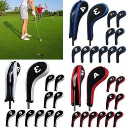 12pcs set number print golf club iron