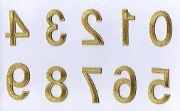 "2"" Numbers - Metallic GOLD - CHOICE -"