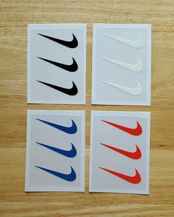 "3 Nike Iron On Swoosh Logos 2"" Inches Heat Transfer Vinyl HT"
