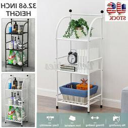 3 Tiers Iron Home Kitchen Storage Bathroom Bedroom Rack Free