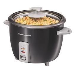 Hamilton Beach 37517 Rice Cooker and Steamer, 16 Cup, Black