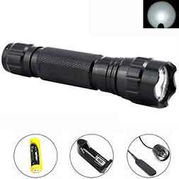 TangsPower 501B XM-L T6 1000 Lumens Bright LED Flashlight To