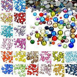 600PCS Mixed Size DMC Iron On Hotfix Crystal Rhinestones Fla