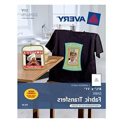 "Avery Dark T-Shirt Transfers, Matte, 8.5"" x 11"", 5 Sheets -"