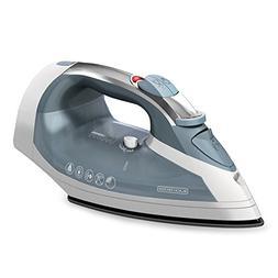 BLACK+DECKER Cord-Reel Steam Iron, Grey/White, ICR05X