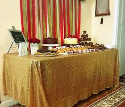 BalsaCircle 60x102-Inch Gold Rectangle Tablecloth for Weddin