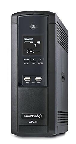 CyberPower BRG1500AVRLCD Intelligent LCD UPS System, 1500VA/