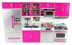 Doll Playsets My Modern Kitchen 32 Full Deluxe Kit with Ligh