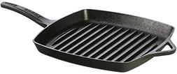 Lodge Dishwasher Safe Seasoned Cast Iron Grill Pan - 11 Inch