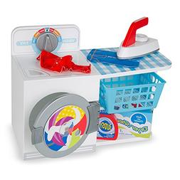 Melissa & Doug Wash, Dry and Iron Play Set - Pretend Play La