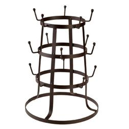New 3Tier Coffee Mug Drying Rack Stand Cup Glass Organizer H