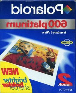 Polaroid 600PLAT-2PK - 600 Platinum Film