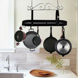 Swirl Design Wrought Iron Kitchen Hanging Pot Rack/pan Holde