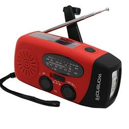 iRonsnow IS-088+  Solar Hand Crank Radio AM/FM/NOAA/WB Weat
