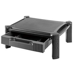 Adjustable Monitor Stand Riser Printer Shelf with Pull Out D