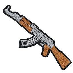 AK-47 Machine Gun DIY Iron On Embroidered Applique Patch