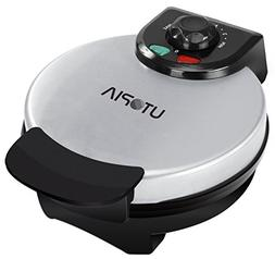 "Utopia Home Belgian Waffle Maker - 8"" Round Stainless Stee"