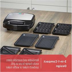 BLACK & DECKER 3 in 1 Meal Station Waffle Maker Grill Sandwi