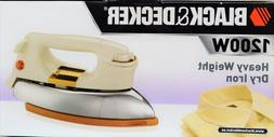 Black & Decker Classic Heavy Weight Dry Iron  220v 1200w