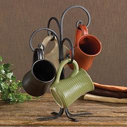 Black Iron Scrolled Mug Rack By Park Designs