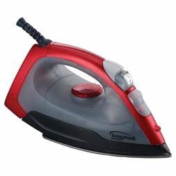 brentwood red nonstick steam iron 1000w