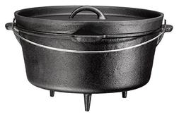 bruntmor legged pre seasoned cast iron camping flanged lid d