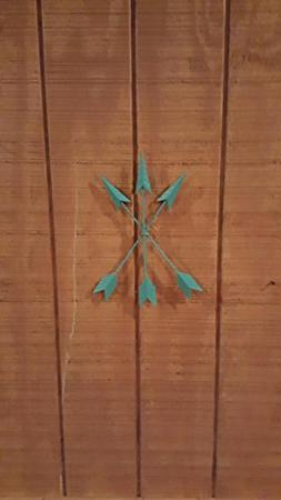 Cast Iron Native American Arrow Wall Decor, Metal Arrow, Arr