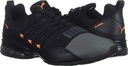 PUMA Men's Cell Regulate Sneaker, Black-Iron gate-Firecracke
