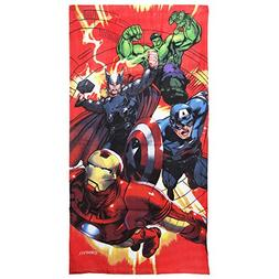 Marvel Childrens Boys Avengers Characters Printed Velour Bea