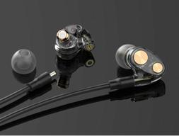 Double moving coil iron headphones In-ear Hifi Subwoofer Wir