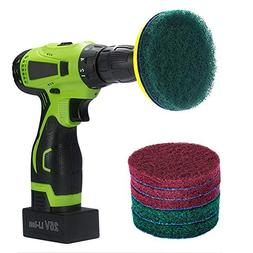Kichwit 4 Inch Drill Power Brush Tile Scrubber Scouring Pads