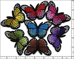 Qiagraphix 28 Pcs Embroidered Iron on patches 7 Color Mixed
