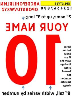 ENGLISH LEAGUE premier IRON ON heat press transfer numbers f