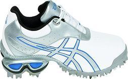ASICS Women's GEL-Linksmaster Golf Shoe,White/Silver/Carolin