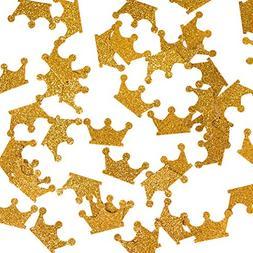 Gold Confetti , Gold Crown Confetti, Party Table Confetti, A