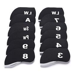 Sword &Shield sports 12 Pcs Golf Club Iron Head Covers Neopr