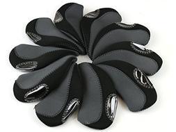 Scorpion Premium Golf Iron Club Head Covers Neoprene, Set of