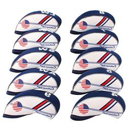 Craftsman Golf White & Blue US Flag Neoprene Golf Club Head