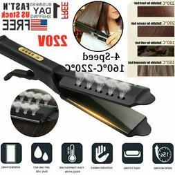 Hair Straightener Glider Flat Iron Hot Four Gear Tourmaline