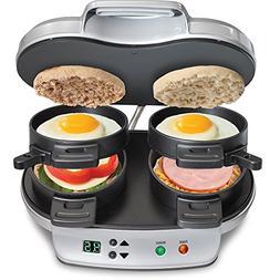 Hamilton Beach Dual Breakfast Sandwich Maker, Silver #388140