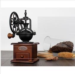HOT Samll MIni Vintage Grinder Manual Coffee Bean coffe wood