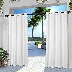 Exclusive Home Indoor/Outdoor Solid Cabana Window Curtain Pa
