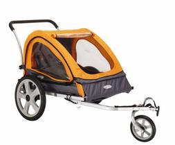 InStep Quick-N-EZ Double Bicycle Trailer, Orange/Gray