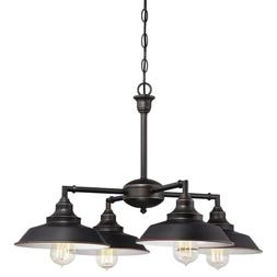 Iron Hill 4-Light Oil Rubbed Bronze Convertible Chandelier/S