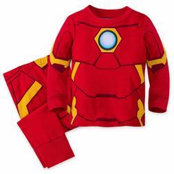 Disney Store Iron Man Super Hero PJ Pals Pajamas Baby 0 3 6