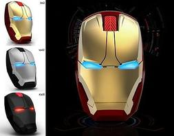 Iron Man Wireless Game Mouse USB 2.4G 4D 1600 DPI 3 Colors
