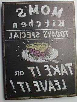 Iron Tin Metal Sign Home Moms Kitchen Today special recipe D